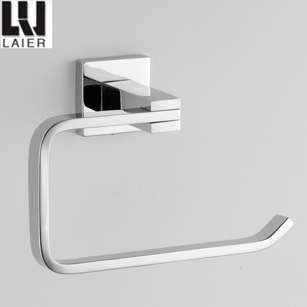 2015 new square design zinc chrome bathroom accessories set robe hook 20935