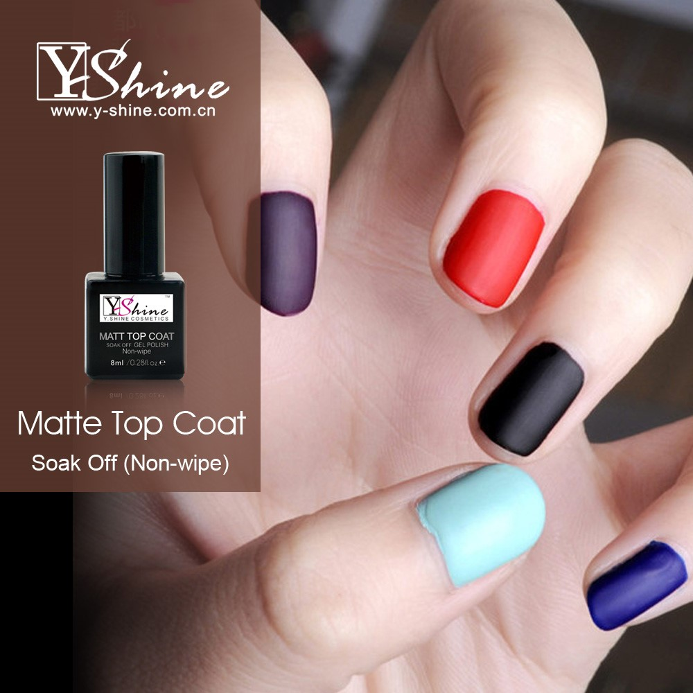 Oem Service Y Shine Free Sample Beauty Nail Matte Top Coat Polish Uv