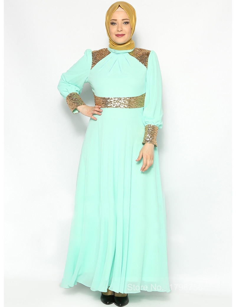 Hijab Mpzsuv BeautifulVestidos Sleeve Dress con Long mNnwv8O0