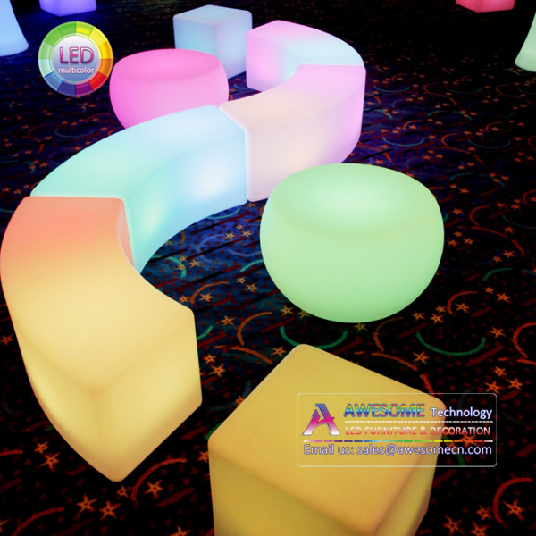 Commercial event furnishings led glow furniture for event rental companies