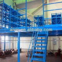 Useful mezzanine floor with commercial shelf