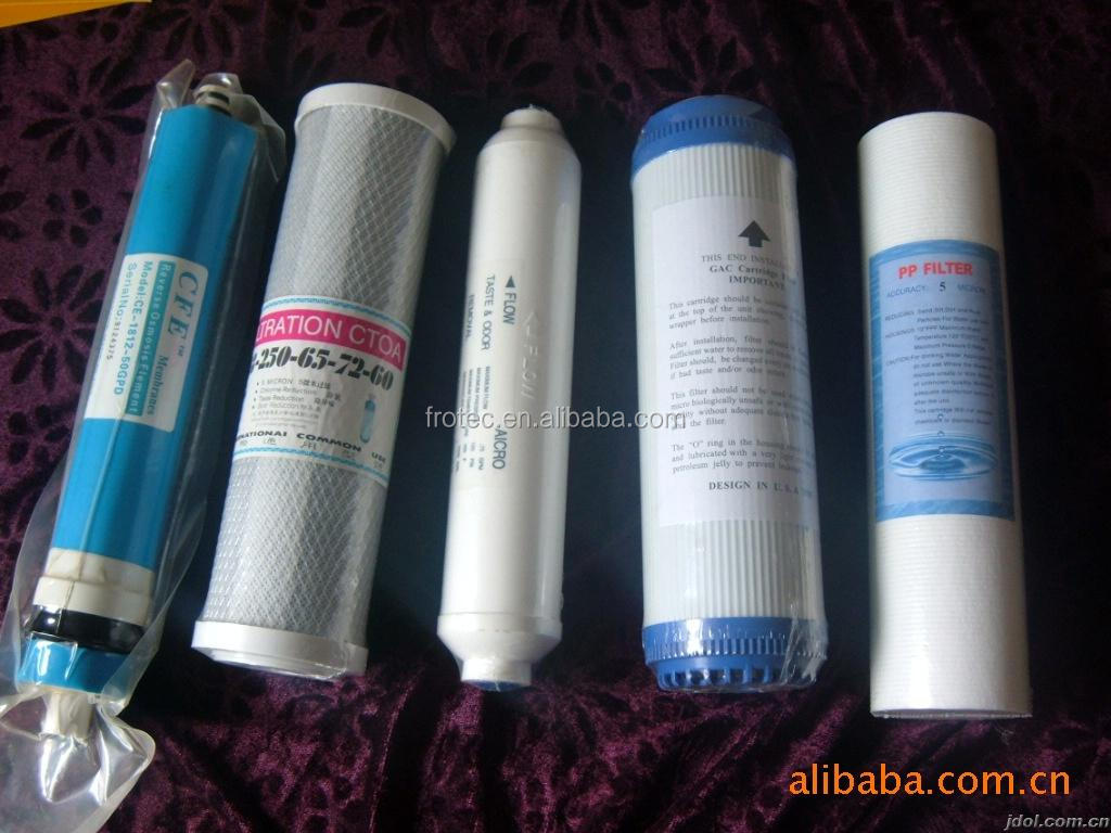 20 ich CTO activated carbon filter/cto carbon block filter cartridge