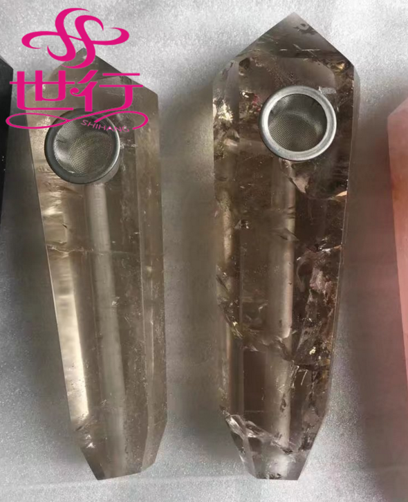natural quartz crystal stone pipes semi-precious smoking pipe for wholesale
