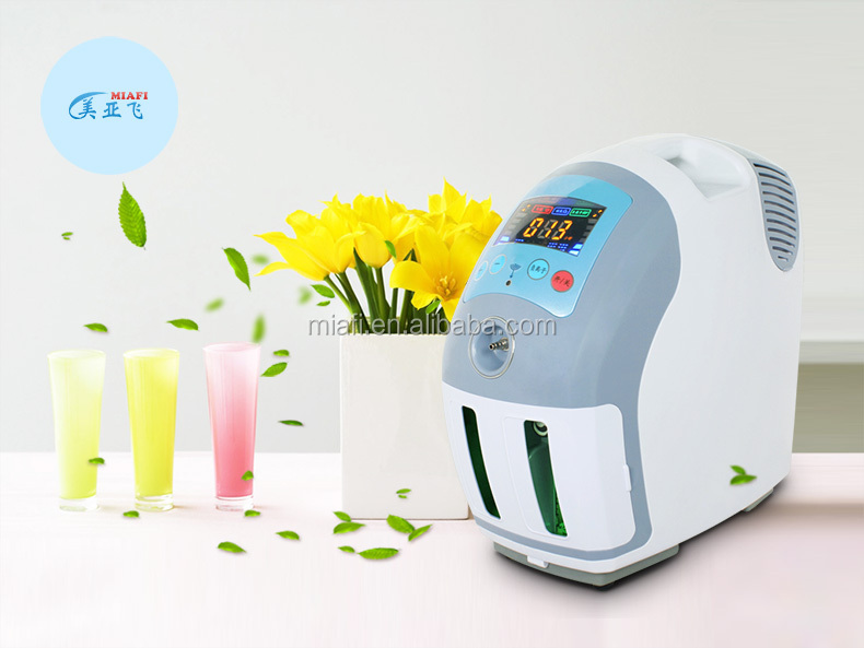 MAF Hot sale low energy consumption 1-6L Portable Oxygen Concentrator for family healthcare