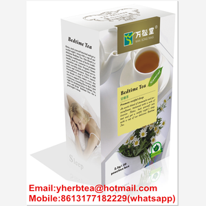 Organic medicinal herb tea for sleeping well tea bag