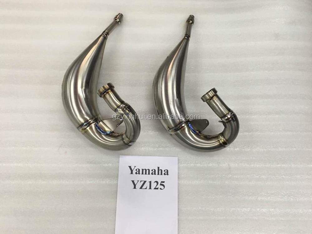 Titanium performance exhaust system for motorcycle dirt bike YZ125