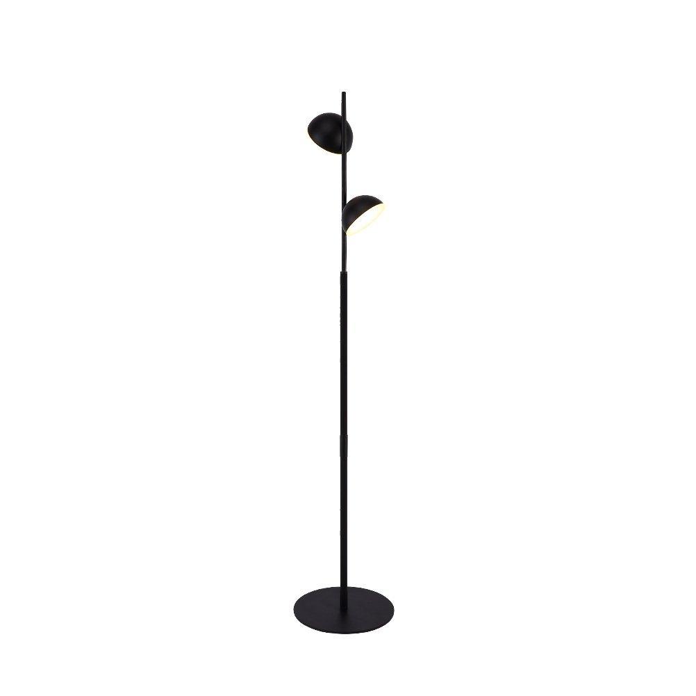 WAN SAN QIAN- Retro Industrial Style Floor Lamp Led Warm Light Iron Living Room Study 2-Head Floor Lamp Black 163X25cm Floor Lamp