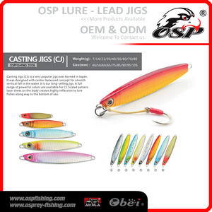 Best selling lead metal jigging OSP Lead JIGS lure artificial fish lures CASTING JIGS(CJ)