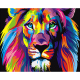 CHENISTORY DZ1025 Frame Colorful Lions Animals DIY Painting By Numbers Modern Hand Painted Oil Painting Unique Gift For Children