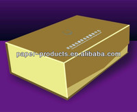Jewelry Packing Gold Box Silver Embossed Jewelry Box For Jewelry Shop