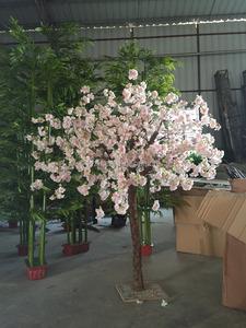 Hot sale table decoration fake cherry bonsai tree silk flower tree pink  artificial cherry blossom tree