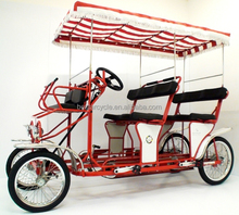 two people quadricycle 4 wheel bike with steel frame