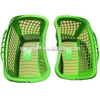 One handle folding shopping basketsmall cosmetic picnic basket On Sale!!! HDPP Plastic Rolling From Factory YD-J578 New