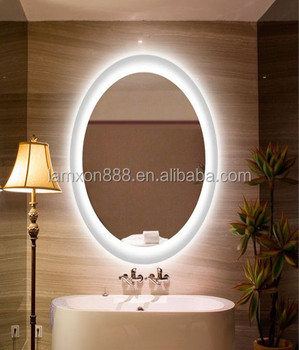 Modern design bathroom led backlit mirror with surface for Where can i buy bathroom mirrors