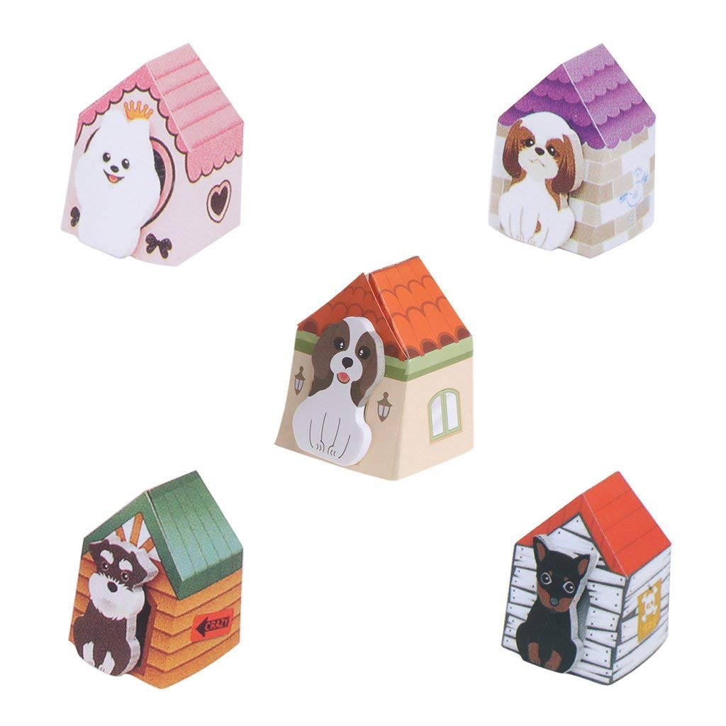 Rockrok Puppy Cute Sticky Notes Funny Memo Pad Sticker Note Pad School Supply(Random Color)