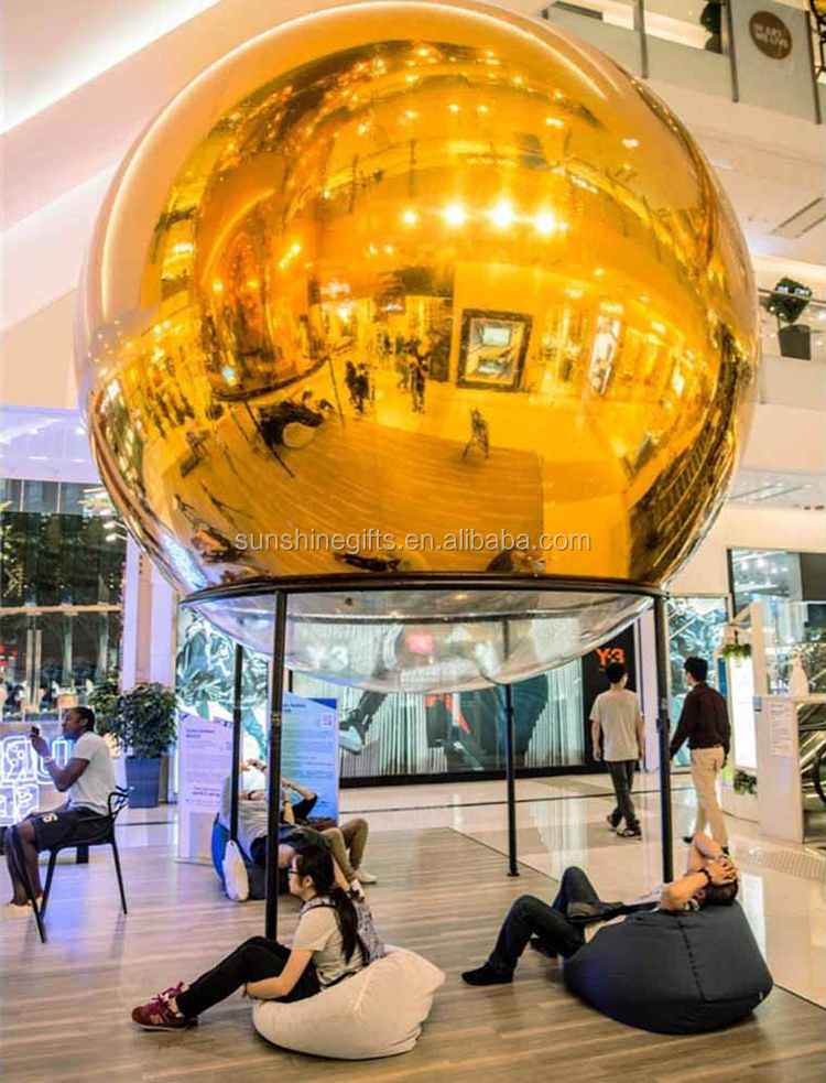 Factory Outlets Advertising Inflatables Reflective Inflatable Gold Mirror ball