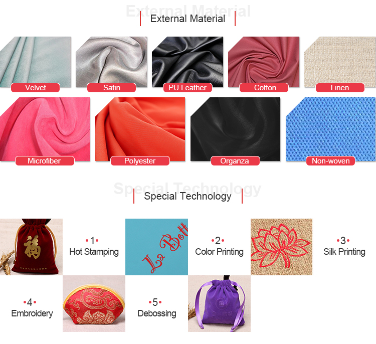 Shiny velvet material custom logo popularity pouch on alibaba station rope velvet jewelry bag