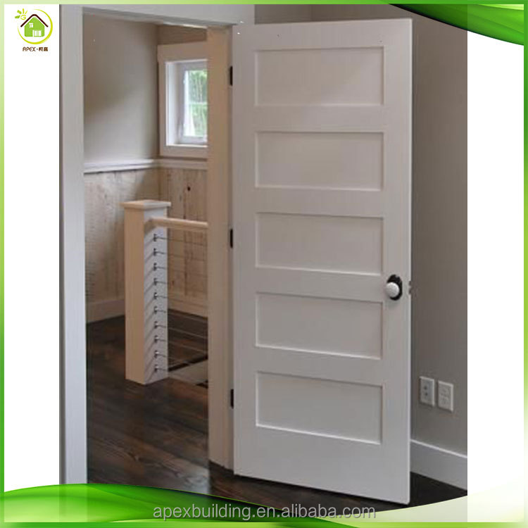 5-panel interior door flat hollow core door cheap apartment door