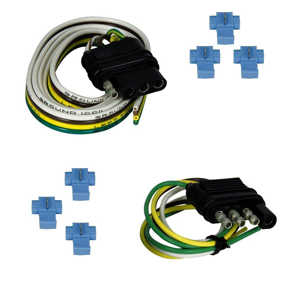 Buy Trailer Light Wiring 4 Way Flat 48 Vehicle End Socket