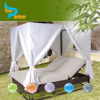 Bali Bett Im Freien  Outdoor Gartenlaube Bett  Luxus Gartenmöbel