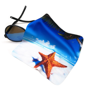 Custom Heat Transfer Printed Microfiber Glasses Sunglasses Eyeglasses Cleaning Cloth