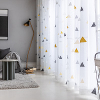 Free sample good quality children room bathroom ready made curtain