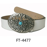 Leather wide belt/White women belt for dresses/Fashion metal buckle belt