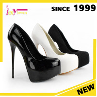 top quality PU/suede leather round toe sexy platform high heel women dress shoes big size pump shoes