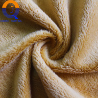 Western Textile Fabric 4mm 280gsm 100% Polyester Crystal Super Soft Velvet for Plush toys/Pillow/Blankets