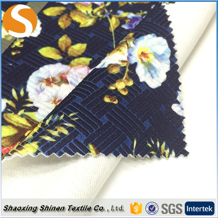 Top Quality polyester print jacquard knit fabrics to on dresses