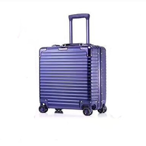 Blue polit case travel luggage suitcase made of quality factory supplier