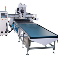 Auto Loading Nested Based Cabinet Woodworking F4 CNC Router with high quality