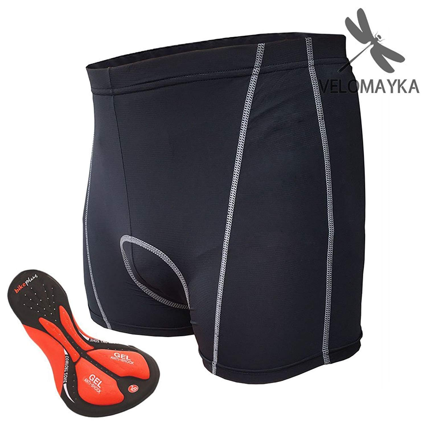 Velomayka Cycling Underwear 3D Padded Gel Riding Cycling Shorts Padded Pants,Breathable, Comfortable, Lightweight