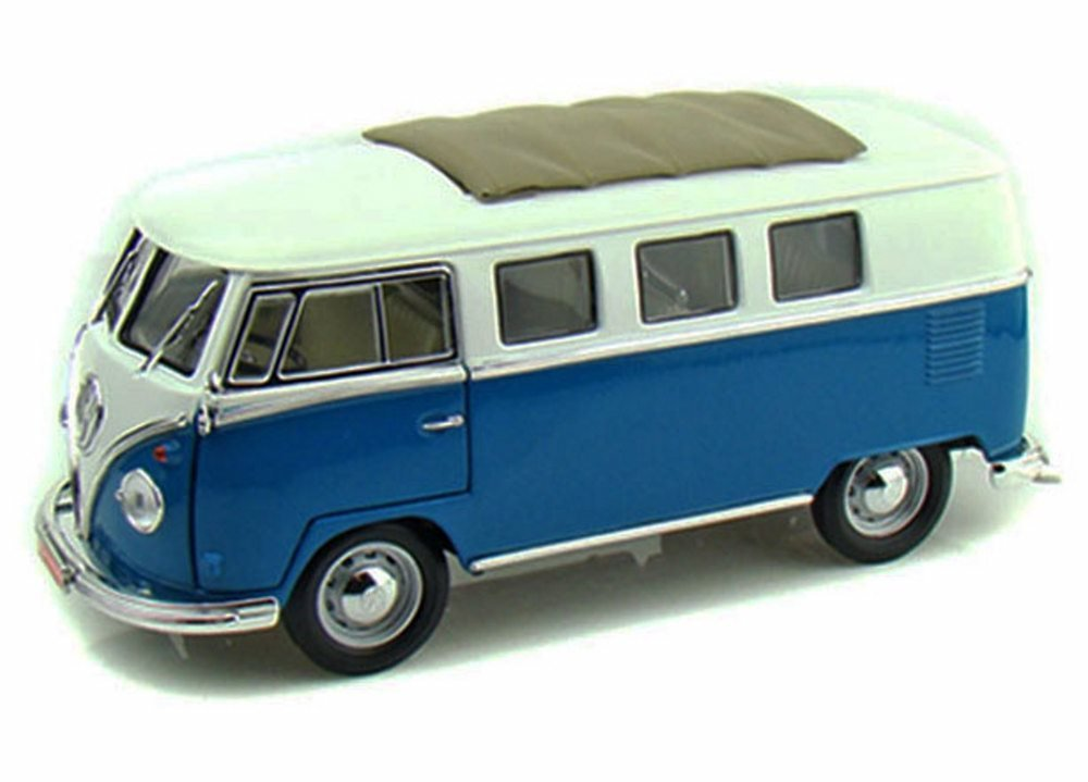 Greenlight 1962 VW Volkswagen Microbus Auto Haus Blue 1//18 Limited Editition
