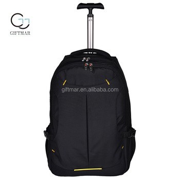 China suppliers waterproof and durable nylon travel backpack bags with wheel