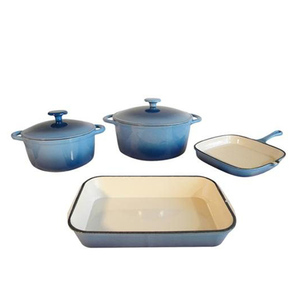 pan with sets green enamel cast iron cookware