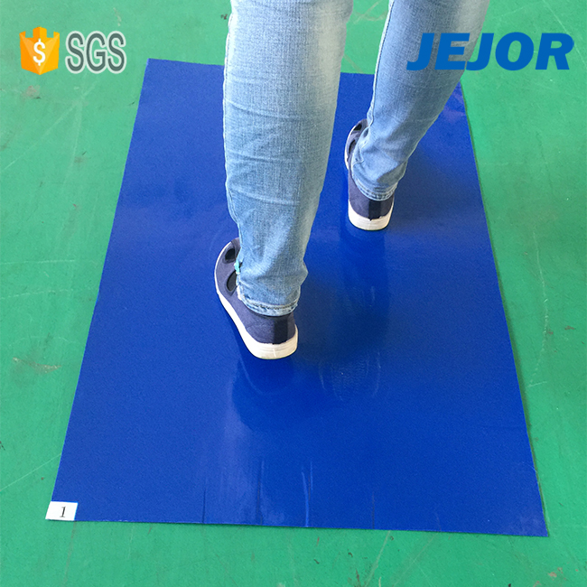 Walk Off 35um Blue Sticky Mat-01 Low Price China Mobile Phone Esd Sticky Mats Manufacturer