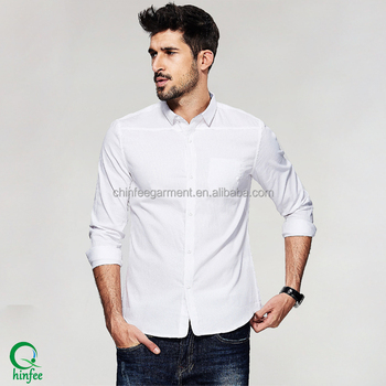 Mms040 Latest Design Men Casual Long Sleeves White Shirts - Buy ... fa3f5a9573c