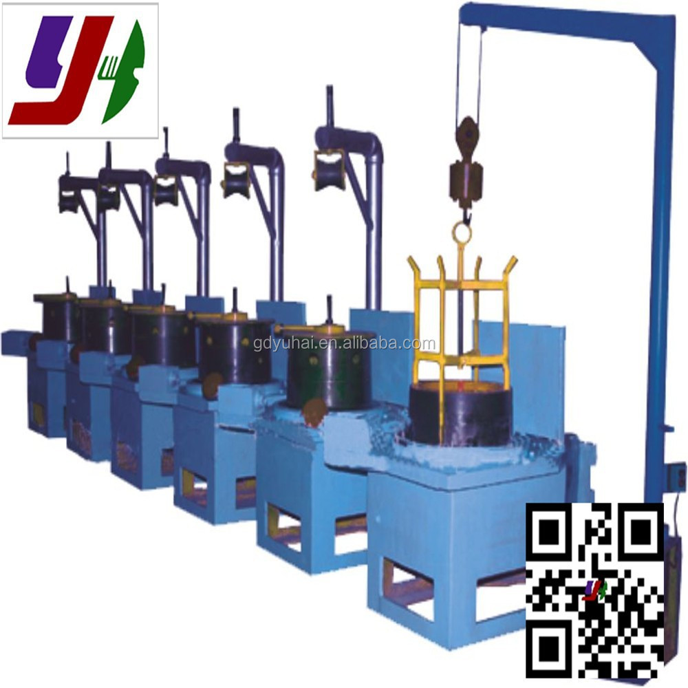 Vertical type metal wire drawing machine