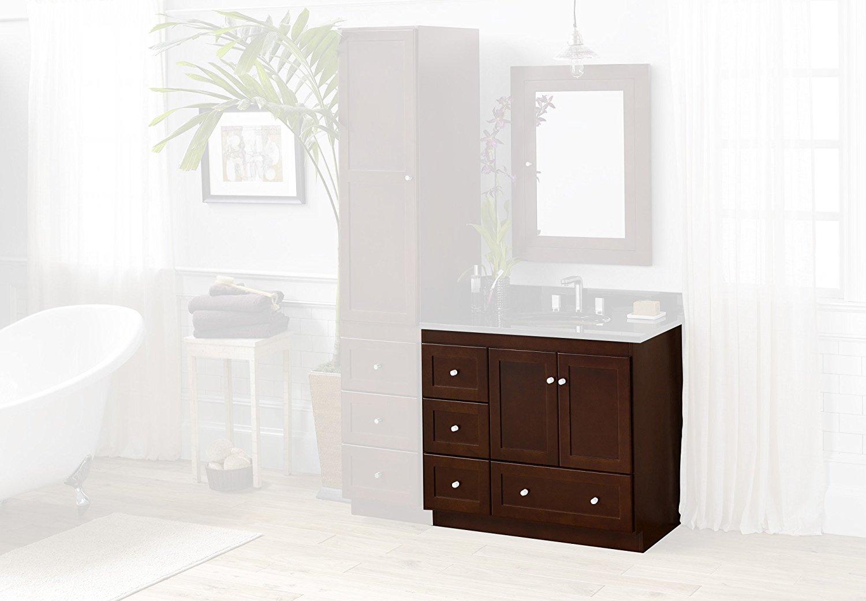 Buy Ronbow 081936-3R-H01 Shaker 36 inch Bathroom Vanity Cabinet Base ...