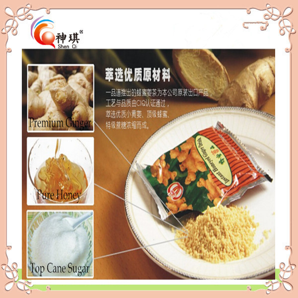 FDA quality Flavored Tea , natural instant honey ginger root tea powder of ginger drink for body <strong>health</strong>