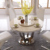 Natural marble top table modern metal center dining table restaurant tische
