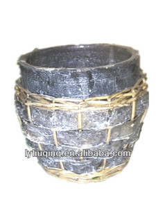 Decorative wicker garden ceramic pottery for planting flower