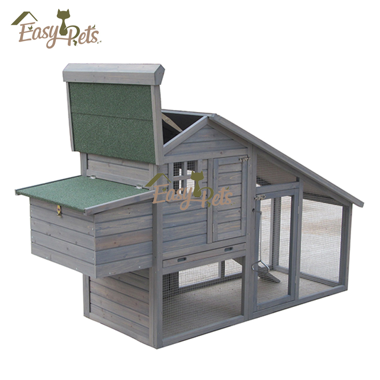 Home Coop Rabbit Guinea Pig Hutch Ferret Garden Chicken House With Planter Box