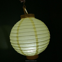 colorful battery operated led paper lantern with led light