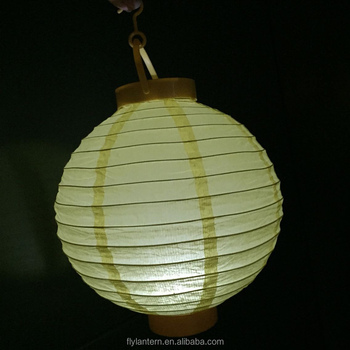 Colorful Battery Operated Led Paper Lantern With Light