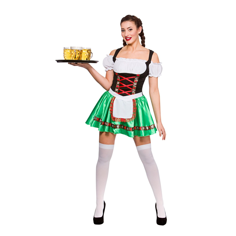 Ladies Oktoberfest Beer Girl Fancy Dress Party Costume Halloween Dirndl  Bavarian c09ae4a34c6c