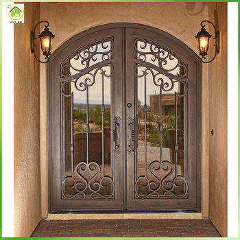 Safety Arch Lowes Wrought Iron Double Glass Entry Doors Buy Wrought Iron Glass Entry Dooralder Double Entry Doorwrought Iron Double Entry Doors