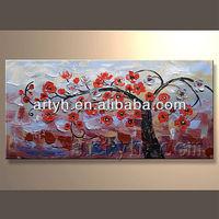 100% handmade plum blossom tree oil painting