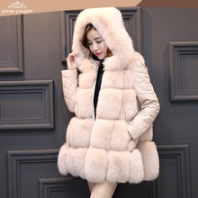 Top products fur coat hooded faux fox fur jacket